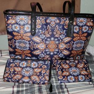 Authentic Coach bag, wallet, and wristlet